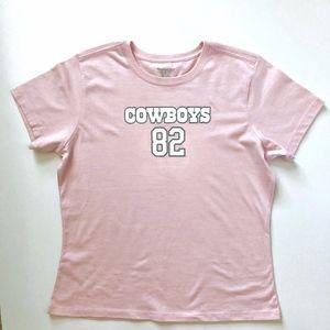 Pink Dallas Cowboys Witten #82 Tee Shirt XL